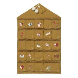 Fabelab Adventkalender Wall Calendar Nostalgia Ochre